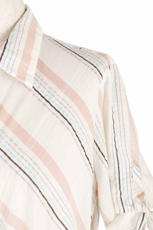 LOVESTITCHのMarlaStripedDressマルチストライプ・リボンシャツワンピース/海外ファッションが好きな大人カジュアルのためのLOVESTITCH(ラブステッチ)のワンピースやミディワンピース。優しい色合いのマルチストライプが可愛いシャツワンピース。アメリカンレトロな雰囲気のシルエット。/main-8