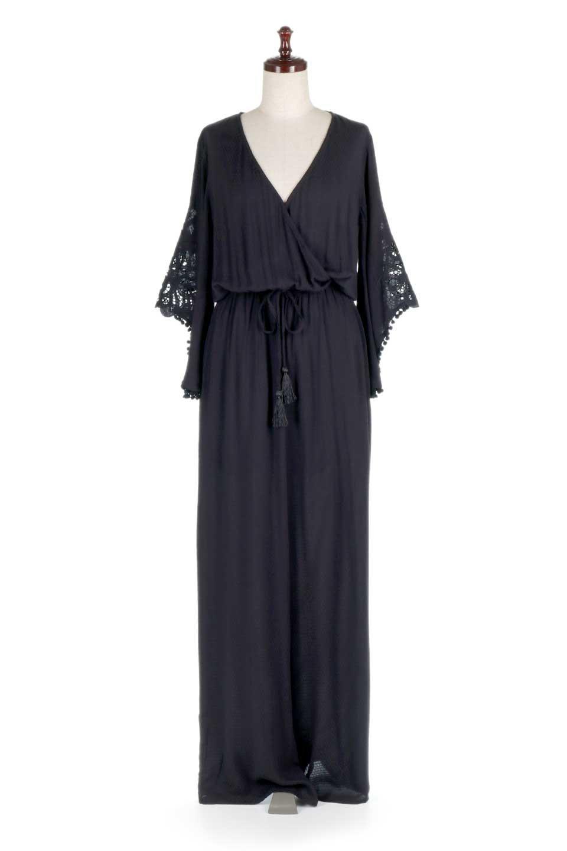LOVESTITCHのCarineCrochetSleeveJumpsuitカットレーススリーブ・ブラックジャンプスーツ/海外ファッションが好きな大人カジュアルのためのLOVESTITCH(ラブステッチ)のボトムやロンパース類。カジュアルでありながらキリッとクールな雰囲気のジャンプスーツ。大人っぽく色っぽいブラックカジュアル好きにはたまらないアイテムです。