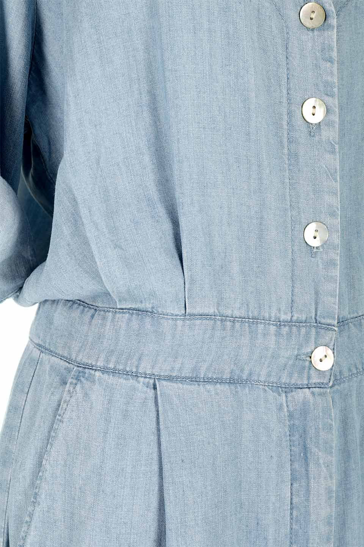 LOVESTITCHのSaoirseCroppedJumpsuitテンセルデニム・クロップドジャンプスーツ/海外ファッションが好きな大人カジュアルのためのLOVESTITCH(ラブステッチ)のボトムやロンパース類。薄手なテンセルデニムを使用したクロップ丈のデニムジャンプスーツ。夏にピッタリのソフトな生地を涼しげなジャンプスーツにしたおすすめアイテムです。/main-10