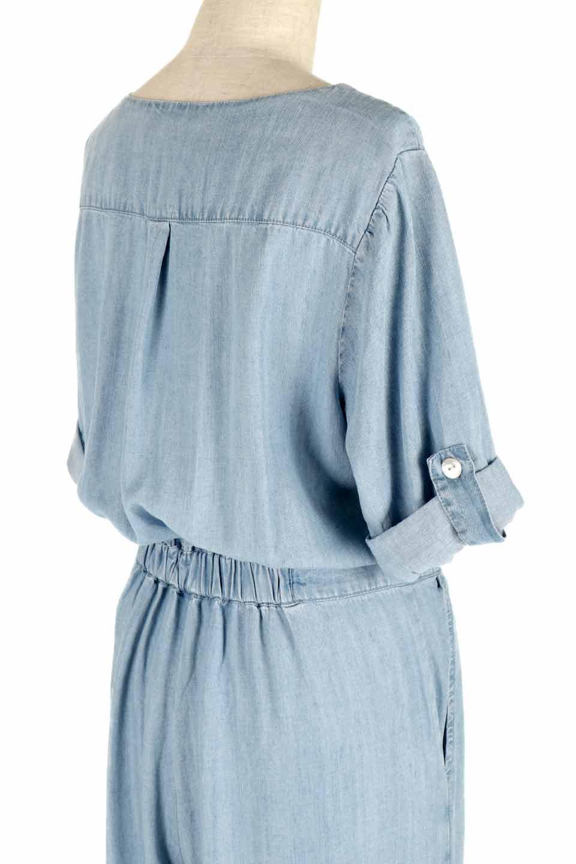 LOVESTITCHのSaoirseCroppedJumpsuitテンセルデニム・クロップドジャンプスーツ/海外ファッションが好きな大人カジュアルのためのLOVESTITCH(ラブステッチ)のボトムやロンパース類。薄手なテンセルデニムを使用したクロップ丈のデニムジャンプスーツ。夏にピッタリのソフトな生地を涼しげなジャンプスーツにしたおすすめアイテムです。/main-6
