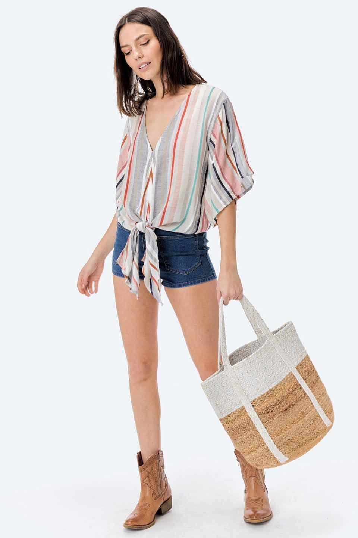 LOVESTITCHのPuertoVallartaJuteToteコットン&ジュート・ラメ入りトートバッグ/海外ファッションが好きな大人カジュアルのためのLOVESTITCH(ラブステッチ)のバッグやトートバッグ。手編みのラメ入りコットンとジュート素材のトートバッグ。優しい風合いのコットン部分と耐久性に優れたジュートの機能美あふれる夏用トートバッグです。/main-15
