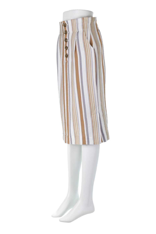 MultiStripedSemiTightSkirtマルチストライプ・セミタイトスカート大人カジュアルに最適な海外ファッションのothers(その他インポートアイテム)のボトムやスカート。多色使いでコーデしやすいマルチストライプのセミタイトスカート。各色にくすんだカラーを使用して派手感を抑えたスカートです。/main-11