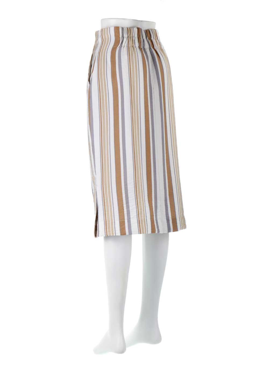 MultiStripedSemiTightSkirtマルチストライプ・セミタイトスカート大人カジュアルに最適な海外ファッションのothers(その他インポートアイテム)のボトムやスカート。多色使いでコーデしやすいマルチストライプのセミタイトスカート。各色にくすんだカラーを使用して派手感を抑えたスカートです。/main-13