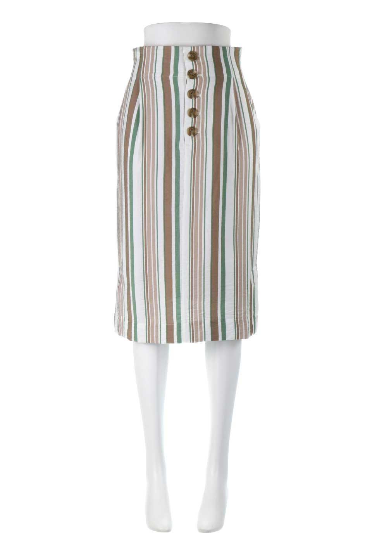 MultiStripedSemiTightSkirtマルチストライプ・セミタイトスカート大人カジュアルに最適な海外ファッションのothers(その他インポートアイテム)のボトムやスカート。多色使いでコーデしやすいマルチストライプのセミタイトスカート。各色にくすんだカラーを使用して派手感を抑えたスカートです。/main-5
