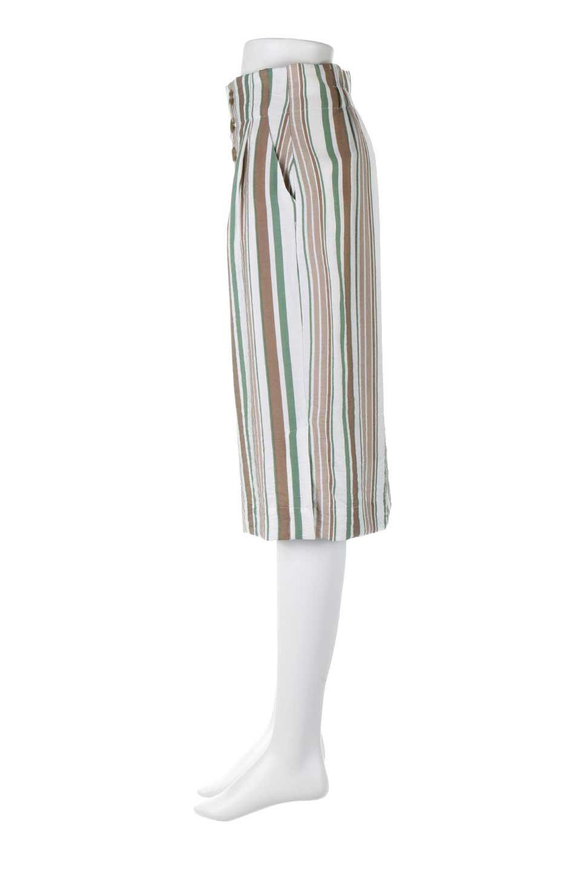 MultiStripedSemiTightSkirtマルチストライプ・セミタイトスカート大人カジュアルに最適な海外ファッションのothers(その他インポートアイテム)のボトムやスカート。多色使いでコーデしやすいマルチストライプのセミタイトスカート。各色にくすんだカラーを使用して派手感を抑えたスカートです。/main-7