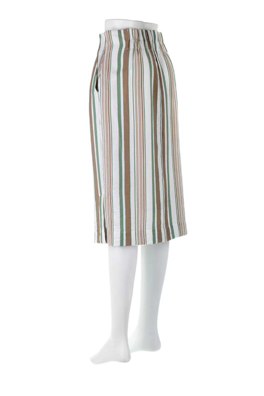 MultiStripedSemiTightSkirtマルチストライプ・セミタイトスカート大人カジュアルに最適な海外ファッションのothers(その他インポートアイテム)のボトムやスカート。多色使いでコーデしやすいマルチストライプのセミタイトスカート。各色にくすんだカラーを使用して派手感を抑えたスカートです。/main-8