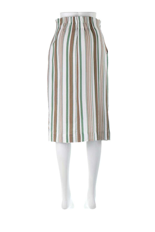 MultiStripedSemiTightSkirtマルチストライプ・セミタイトスカート大人カジュアルに最適な海外ファッションのothers(その他インポートアイテム)のボトムやスカート。多色使いでコーデしやすいマルチストライプのセミタイトスカート。各色にくすんだカラーを使用して派手感を抑えたスカートです。/main-9