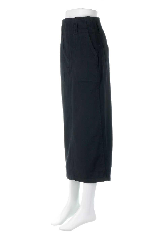 HighWaistPencilSkirtハイウエスト・ツイルペンシルスカート大人カジュアルに最適な海外ファッションのothers(その他インポートアイテム)のボトムやスカート。コットンツイルのしっかりした生地のタイトスカート。ミリタリーやワーク系の雰囲気もあるカジュアルテイストのアイテムです。/main-11