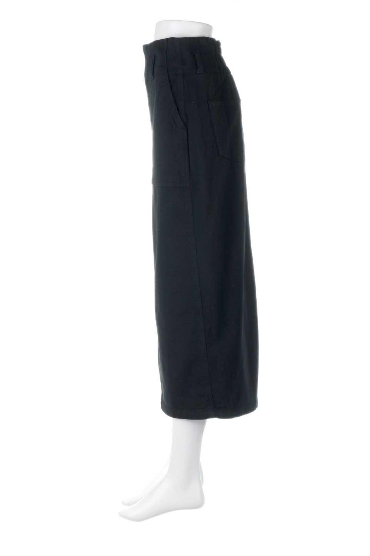 HighWaistPencilSkirtハイウエスト・ツイルペンシルスカート大人カジュアルに最適な海外ファッションのothers(その他インポートアイテム)のボトムやスカート。コットンツイルのしっかりした生地のタイトスカート。ミリタリーやワーク系の雰囲気もあるカジュアルテイストのアイテムです。/main-12