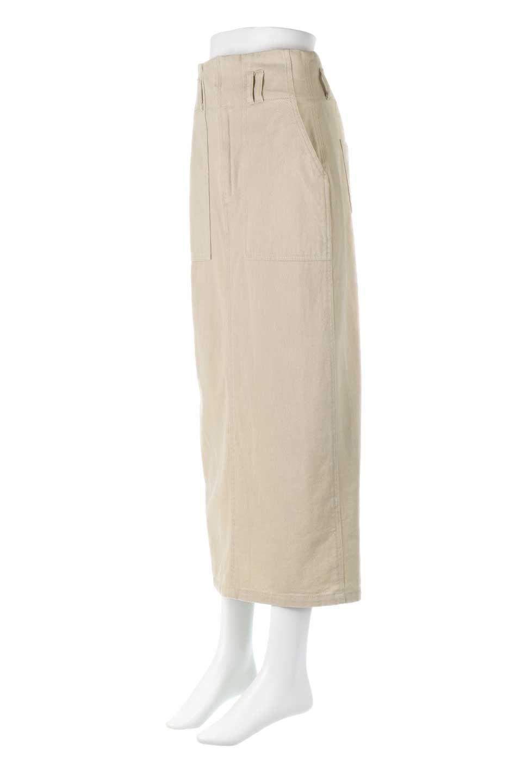 HighWaistPencilSkirtハイウエスト・ツイルペンシルスカート大人カジュアルに最適な海外ファッションのothers(その他インポートアイテム)のボトムやスカート。コットンツイルのしっかりした生地のタイトスカート。ミリタリーやワーク系の雰囲気もあるカジュアルテイストのアイテムです。/main-6