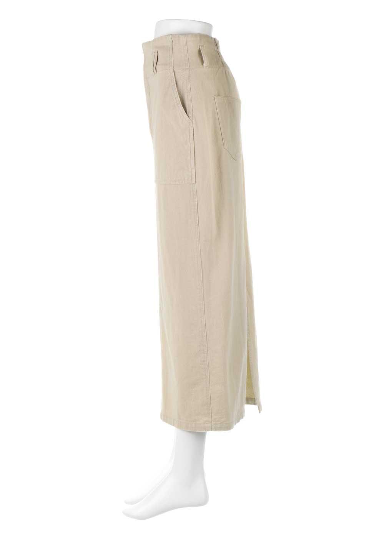 HighWaistPencilSkirtハイウエスト・ツイルペンシルスカート大人カジュアルに最適な海外ファッションのothers(その他インポートアイテム)のボトムやスカート。コットンツイルのしっかりした生地のタイトスカート。ミリタリーやワーク系の雰囲気もあるカジュアルテイストのアイテムです。/main-7