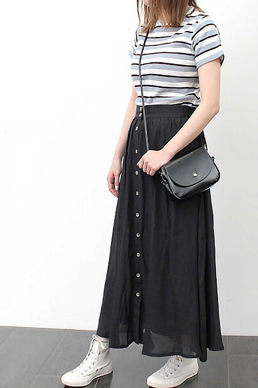 FullOpenFlareSkirtスラブガーゼ・フルオープンマキシスカート大人カジュアルに最適な海外ファッションのothers(その他インポートアイテム)のボトムやスカート。レーヨンのスラブガーゼ素材のマキシスカート。涼しげなガーゼに裏地が付いて安心感のあるスカートです。/main-31