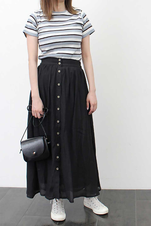 FullOpenFlareSkirtスラブガーゼ・フルオープンマキシスカート大人カジュアルに最適な海外ファッションのothers(その他インポートアイテム)のボトムやスカート。レーヨンのスラブガーゼ素材のマキシスカート。涼しげなガーゼに裏地が付いて安心感のあるスカートです。/main-32