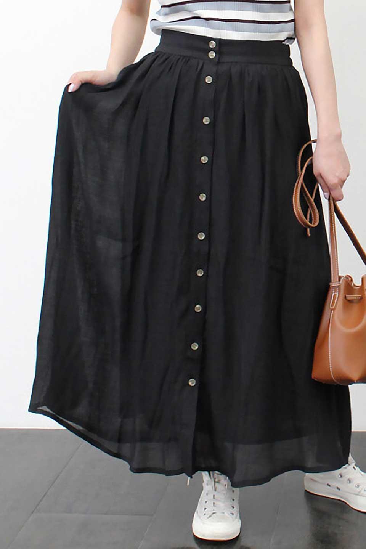 FullOpenFlareSkirtスラブガーゼ・フルオープンマキシスカート大人カジュアルに最適な海外ファッションのothers(その他インポートアイテム)のボトムやスカート。レーヨンのスラブガーゼ素材のマキシスカート。涼しげなガーゼに裏地が付いて安心感のあるスカートです。/main-33