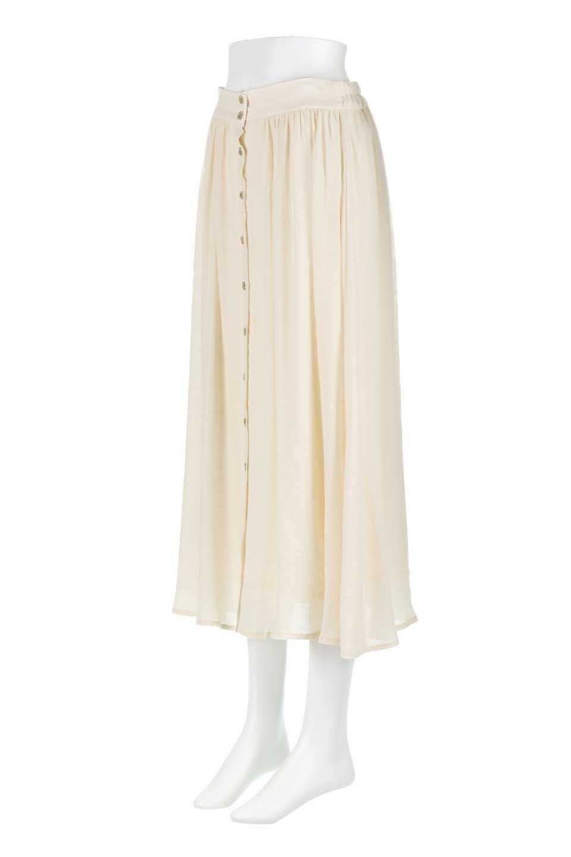 FullOpenFlareSkirtスラブガーゼ・フルオープンマキシスカート大人カジュアルに最適な海外ファッションのothers(その他インポートアイテム)のボトムやスカート。レーヨンのスラブガーゼ素材のマキシスカート。涼しげなガーゼに裏地が付いて安心感のあるスカートです。/main-6