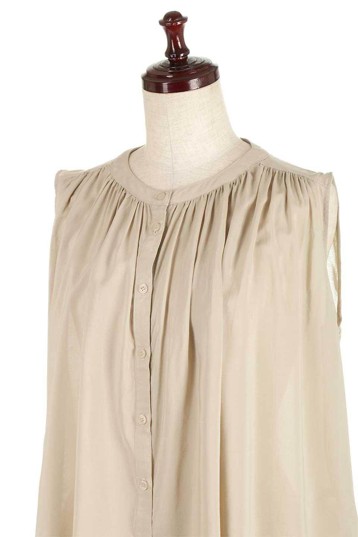 SleevelessGatheredBlouseノースリーブ・ギャザーブラウス大人カジュアルに最適な海外ファッションのothers(その他インポートアイテム)のトップスやシャツ・ブラウス。前後のギャザーのドレープ感がカワイイ、ノースリーブブラウス。夏に最適な薄手の素材でたっぷりとしたボリューム感のあるブラウスです。/main-16