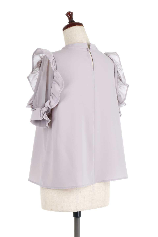 ChiffonSleeveBlouseフリル付き・シフォンスリーブブラウス大人カジュアルに最適な海外ファッションのothers(その他インポートアイテム)のトップスやシャツ・ブラウス。シースルーのシフォンがポイントのオープンショルダータイプの半袖ブラウス。シフォン部分を縁取るフリルのボリューム感で小顔効果も期待できます。/main-13