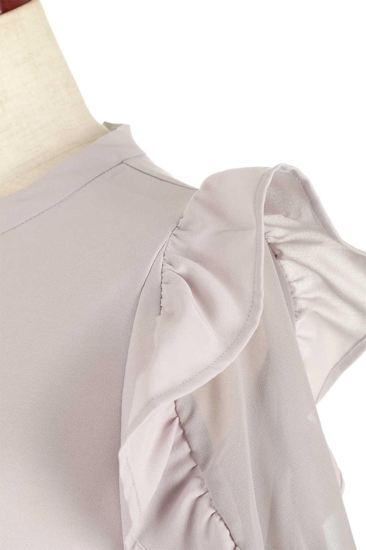 ChiffonSleeveBlouseフリル付き・シフォンスリーブブラウス大人カジュアルに最適な海外ファッションのothers(その他インポートアイテム)のトップスやシャツ・ブラウス。シースルーのシフォンがポイントのオープンショルダータイプの半袖ブラウス。シフォン部分を縁取るフリルのボリューム感で小顔効果も期待できます。/main-26