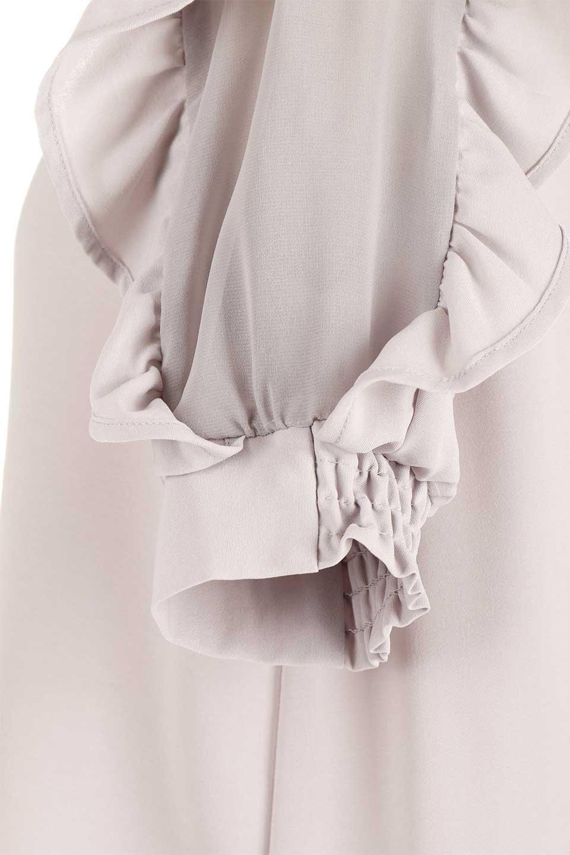 ChiffonSleeveBlouseフリル付き・シフォンスリーブブラウス大人カジュアルに最適な海外ファッションのothers(その他インポートアイテム)のトップスやシャツ・ブラウス。シースルーのシフォンがポイントのオープンショルダータイプの半袖ブラウス。シフォン部分を縁取るフリルのボリューム感で小顔効果も期待できます。/main-30