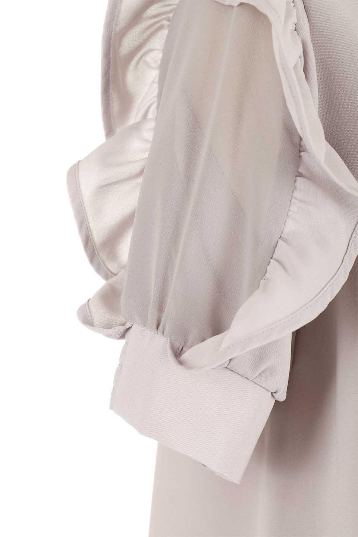 ChiffonSleeveBlouseフリル付き・シフォンスリーブブラウス大人カジュアルに最適な海外ファッションのothers(その他インポートアイテム)のトップスやシャツ・ブラウス。シースルーのシフォンがポイントのオープンショルダータイプの半袖ブラウス。シフォン部分を縁取るフリルのボリューム感で小顔効果も期待できます。/main-31