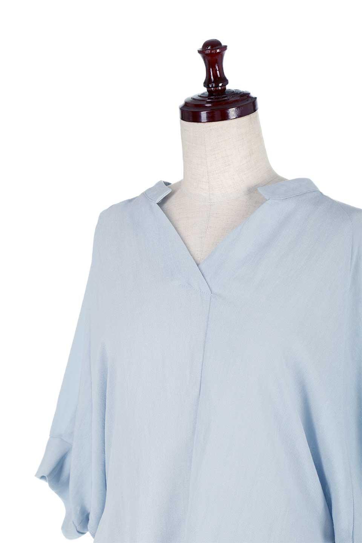 DolmanSleeveBackTiedBlouseドルマンスリーブ・バックリボンブラウス大人カジュアルに最適な海外ファッションのothers(その他インポートアイテム)のトップスやシャツ・ブラウス。バックスリットデザインとドロストのギャザー感が後ろ姿も美しく見せてくれるドルマンブラウス。程よいネックの抜け感が今年らしいトップス。/main-15