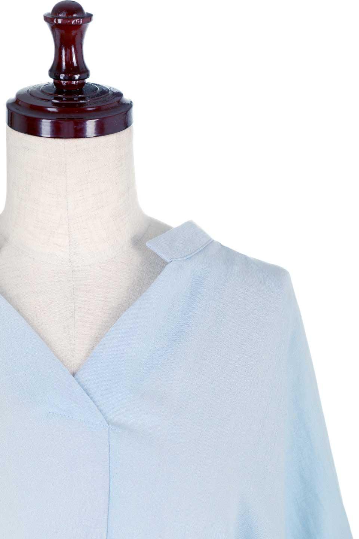 DolmanSleeveBackTiedBlouseドルマンスリーブ・バックリボンブラウス大人カジュアルに最適な海外ファッションのothers(その他インポートアイテム)のトップスやシャツ・ブラウス。バックスリットデザインとドロストのギャザー感が後ろ姿も美しく見せてくれるドルマンブラウス。程よいネックの抜け感が今年らしいトップス。/main-16