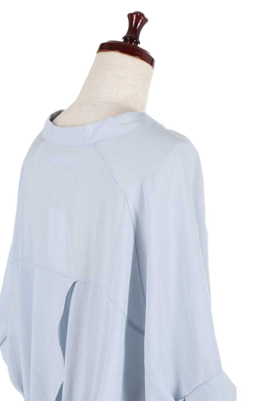 DolmanSleeveBackTiedBlouseドルマンスリーブ・バックリボンブラウス大人カジュアルに最適な海外ファッションのothers(その他インポートアイテム)のトップスやシャツ・ブラウス。バックスリットデザインとドロストのギャザー感が後ろ姿も美しく見せてくれるドルマンブラウス。程よいネックの抜け感が今年らしいトップス。/main-18