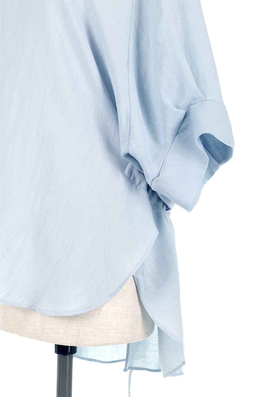 DolmanSleeveBackTiedBlouseドルマンスリーブ・バックリボンブラウス大人カジュアルに最適な海外ファッションのothers(その他インポートアイテム)のトップスやシャツ・ブラウス。バックスリットデザインとドロストのギャザー感が後ろ姿も美しく見せてくれるドルマンブラウス。程よいネックの抜け感が今年らしいトップス。/main-20