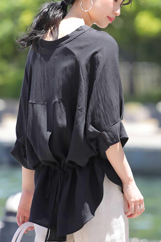 DolmanSleeveBackTiedBlouseドルマンスリーブ・バックリボンブラウス大人カジュアルに最適な海外ファッションのothers(その他インポートアイテム)のトップスやシャツ・ブラウス。バックスリットデザインとドロストのギャザー感が後ろ姿も美しく見せてくれるドルマンブラウス。程よいネックの抜け感が今年らしいトップス。/main-35