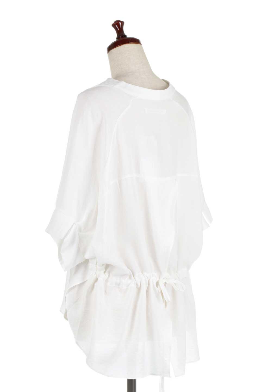DolmanSleeveBackTiedBlouseドルマンスリーブ・バックリボンブラウス大人カジュアルに最適な海外ファッションのothers(その他インポートアイテム)のトップスやシャツ・ブラウス。バックスリットデザインとドロストのギャザー感が後ろ姿も美しく見せてくれるドルマンブラウス。程よいネックの抜け感が今年らしいトップス。/main-8