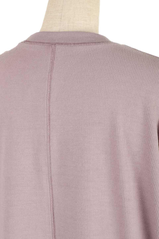 ShortSleeveClueNeckLongTopテレコ素材・ロングトップス大人カジュアルに最適な海外ファッションのothers(その他インポートアイテム)のトップスやカットソー。凹凸感のあるテレコ素材を使用したロング丈の半袖チュニック。そのまま着てもブラウジングしても楽しめるシンプルデザイン。/main-20