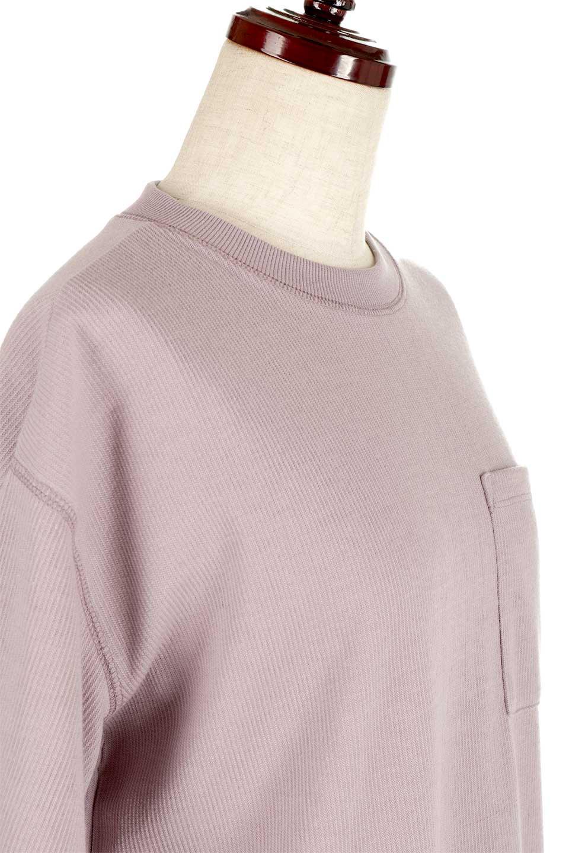 ShortSleeveClueNeckLongTopテレコ素材・ロングトップス大人カジュアルに最適な海外ファッションのothers(その他インポートアイテム)のトップスやカットソー。凹凸感のあるテレコ素材を使用したロング丈の半袖チュニック。そのまま着てもブラウジングしても楽しめるシンプルデザイン。/main-21