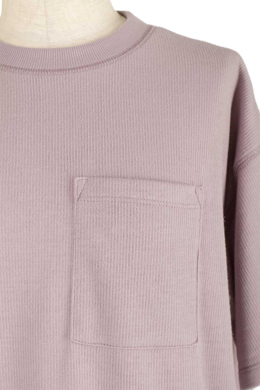 ShortSleeveClueNeckLongTopテレコ素材・ロングトップス大人カジュアルに最適な海外ファッションのothers(その他インポートアイテム)のトップスやカットソー。凹凸感のあるテレコ素材を使用したロング丈の半袖チュニック。そのまま着てもブラウジングしても楽しめるシンプルデザイン。/main-23
