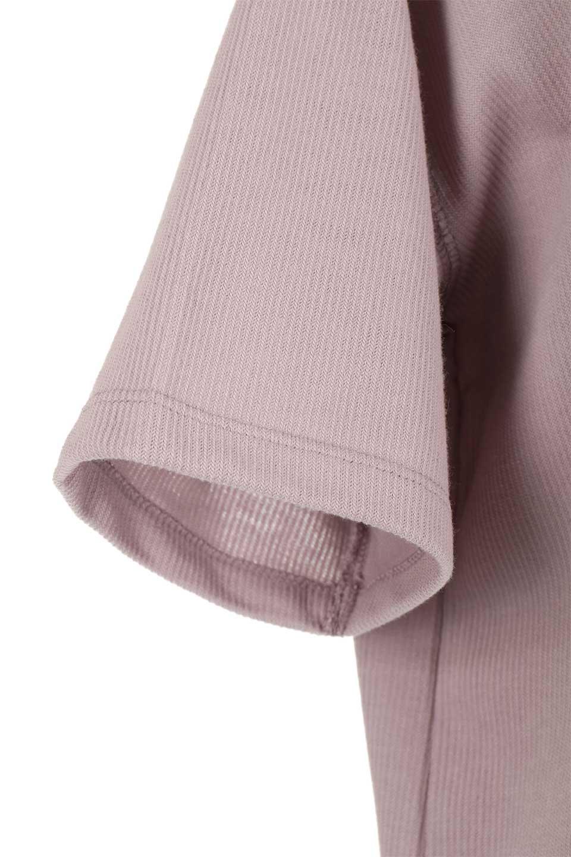 ShortSleeveClueNeckLongTopテレコ素材・ロングトップス大人カジュアルに最適な海外ファッションのothers(その他インポートアイテム)のトップスやカットソー。凹凸感のあるテレコ素材を使用したロング丈の半袖チュニック。そのまま着てもブラウジングしても楽しめるシンプルデザイン。/main-24
