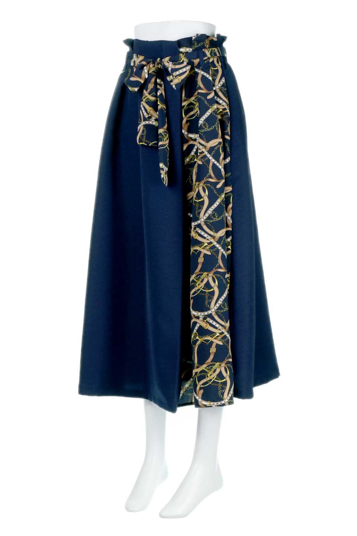 ScarfPanelLongSkirtスカーフ柄・切り替えスカート大人カジュアルに最適な海外ファッションのothers(その他インポートアイテム)のボトムやスカート。スカーフ柄の切り替えが可愛い切り替えスカート。カジュアル感のある上品さが大人気のロングスカートです。/main-11