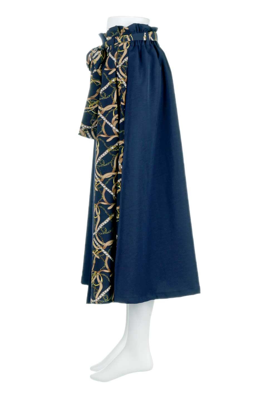 ScarfPanelLongSkirtスカーフ柄・切り替えスカート大人カジュアルに最適な海外ファッションのothers(その他インポートアイテム)のボトムやスカート。スカーフ柄の切り替えが可愛い切り替えスカート。カジュアル感のある上品さが大人気のロングスカートです。/main-12
