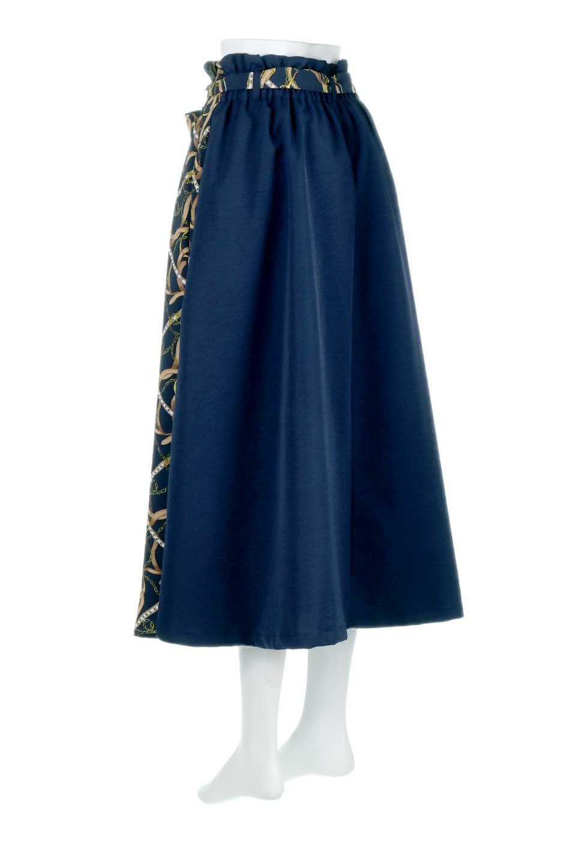 ScarfPanelLongSkirtスカーフ柄・切り替えスカート大人カジュアルに最適な海外ファッションのothers(その他インポートアイテム)のボトムやスカート。スカーフ柄の切り替えが可愛い切り替えスカート。カジュアル感のある上品さが大人気のロングスカートです。/main-13
