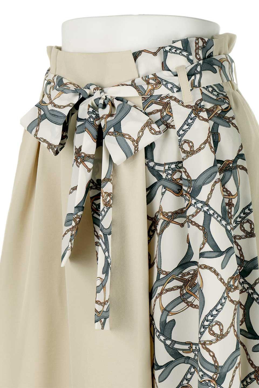 ScarfPanelLongSkirtスカーフ柄・切り替えスカート大人カジュアルに最適な海外ファッションのothers(その他インポートアイテム)のボトムやスカート。スカーフ柄の切り替えが可愛い切り替えスカート。カジュアル感のある上品さが大人気のロングスカートです。/main-15