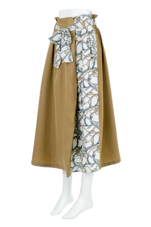 ScarfPanelLongSkirtスカーフ柄・切り替えスカート大人カジュアルに最適な海外ファッションのothers(その他インポートアイテム)のボトムやスカート。スカーフ柄の切り替えが可愛い切り替えスカート。カジュアル感のある上品さが大人気のロングスカートです。/main-5