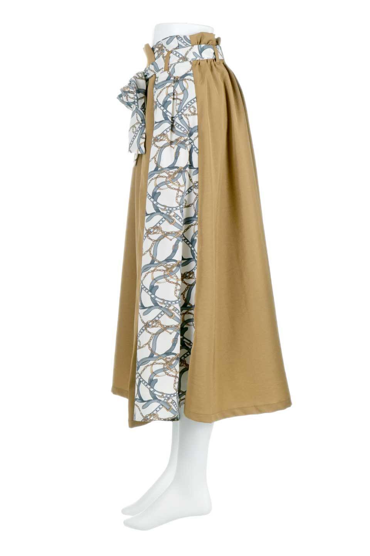 ScarfPanelLongSkirtスカーフ柄・切り替えスカート大人カジュアルに最適な海外ファッションのothers(その他インポートアイテム)のボトムやスカート。スカーフ柄の切り替えが可愛い切り替えスカート。カジュアル感のある上品さが大人気のロングスカートです。/main-6