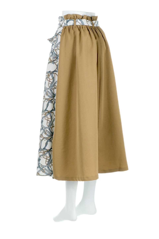 ScarfPanelLongSkirtスカーフ柄・切り替えスカート大人カジュアルに最適な海外ファッションのothers(その他インポートアイテム)のボトムやスカート。スカーフ柄の切り替えが可愛い切り替えスカート。カジュアル感のある上品さが大人気のロングスカートです。/main-7
