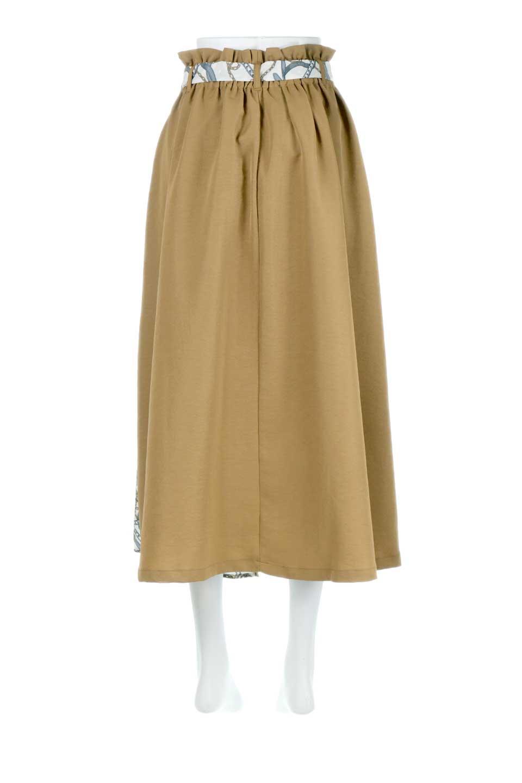 ScarfPanelLongSkirtスカーフ柄・切り替えスカート大人カジュアルに最適な海外ファッションのothers(その他インポートアイテム)のボトムやスカート。スカーフ柄の切り替えが可愛い切り替えスカート。カジュアル感のある上品さが大人気のロングスカートです。/main-8