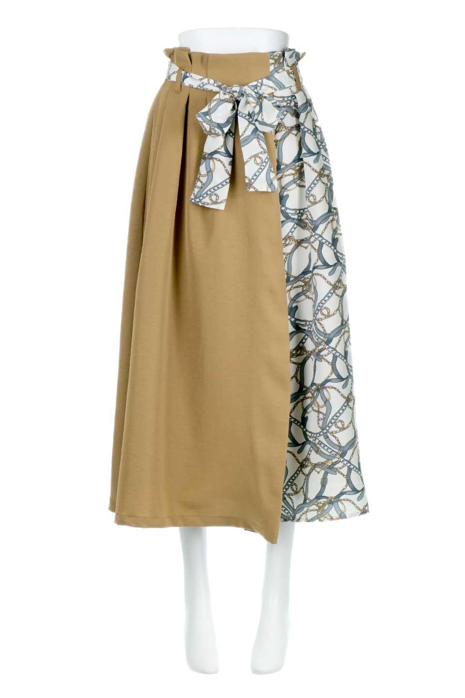 ScarfPanelLongSkirtスカーフ柄・切り替えスカート大人カジュアルに最適な海外ファッションのothers(その他インポートアイテム)のボトムやスカート。スカーフ柄の切り替えが可愛い切り替えスカート。カジュアル感のある上品さが大人気のロングスカートです。/main-9