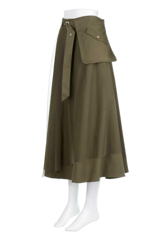 TulleLayeredLongSkirtチュールレイヤード・ロングスカート大人カジュアルに最適な海外ファッションのothers(その他インポートアイテム)のボトムやスカート。チュールとチノ素材のレイヤード・ロングスカート。ミリタリーやワーク系のディテールを透け感のあるチュールが優しく包んだスカートです。/main-1