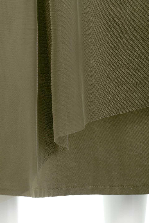 TulleLayeredLongSkirtチュールレイヤード・ロングスカート大人カジュアルに最適な海外ファッションのothers(その他インポートアイテム)のボトムやスカート。チュールとチノ素材のレイヤード・ロングスカート。ミリタリーやワーク系のディテールを透け感のあるチュールが優しく包んだスカートです。/main-10