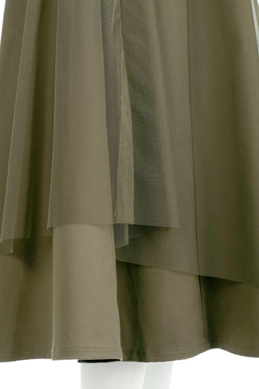 TulleLayeredLongSkirtチュールレイヤード・ロングスカート大人カジュアルに最適な海外ファッションのothers(その他インポートアイテム)のボトムやスカート。チュールとチノ素材のレイヤード・ロングスカート。ミリタリーやワーク系のディテールを透け感のあるチュールが優しく包んだスカートです。/main-11