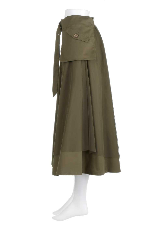 TulleLayeredLongSkirtチュールレイヤード・ロングスカート大人カジュアルに最適な海外ファッションのothers(その他インポートアイテム)のボトムやスカート。チュールとチノ素材のレイヤード・ロングスカート。ミリタリーやワーク系のディテールを透け感のあるチュールが優しく包んだスカートです。/main-2