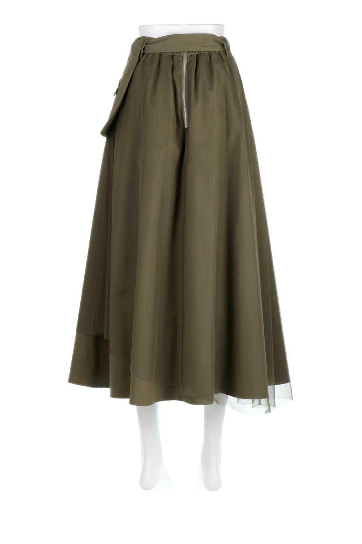 TulleLayeredLongSkirtチュールレイヤード・ロングスカート大人カジュアルに最適な海外ファッションのothers(その他インポートアイテム)のボトムやスカート。チュールとチノ素材のレイヤード・ロングスカート。ミリタリーやワーク系のディテールを透け感のあるチュールが優しく包んだスカートです。/main-4