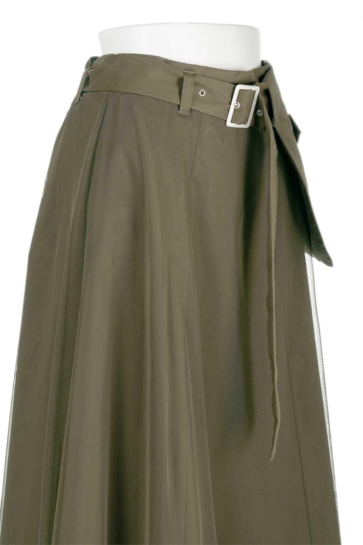 TulleLayeredLongSkirtチュールレイヤード・ロングスカート大人カジュアルに最適な海外ファッションのothers(その他インポートアイテム)のボトムやスカート。チュールとチノ素材のレイヤード・ロングスカート。ミリタリーやワーク系のディテールを透け感のあるチュールが優しく包んだスカートです。/main-5