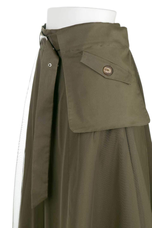 TulleLayeredLongSkirtチュールレイヤード・ロングスカート大人カジュアルに最適な海外ファッションのothers(その他インポートアイテム)のボトムやスカート。チュールとチノ素材のレイヤード・ロングスカート。ミリタリーやワーク系のディテールを透け感のあるチュールが優しく包んだスカートです。/main-6